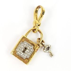 Juicy Couture Key Lock Pave Charm